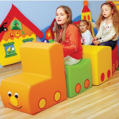 Choo Choo Train ,school lounging cushion,school bean bag furniture,school libary seating,early years resources,early years resources discount code,school bean bags